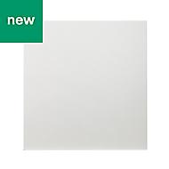 GoodHome Alisma High gloss white slab Appliance Cabinet door (W)600mm