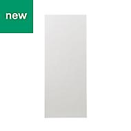 GoodHome Alisma High gloss white slab Tall Larder Cabinet door (W)600mm