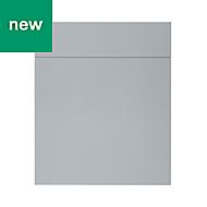 GoodHome Alisma High gloss grey slab Drawerline door & drawer front, (W)600mm