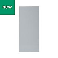 GoodHome Alisma High gloss grey slab Tall wall Cabinet door (W)400mm