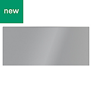 GoodHome Alisma High gloss grey slab Drawer front (W)800mm