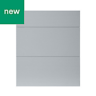 GoodHome Alisma High gloss grey slab Drawer front (W)600mm, Pack of 3