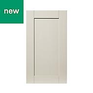 GoodHome Verbena Matt cashmere painted natural ash shaker Highline Cabinet door (W)400mm