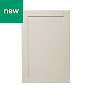 GoodHome Verbena Matt cashmere painted natural ash shaker Tall wall Cabinet door (W)600mm