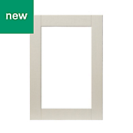 GoodHome Verbena Matt cashmere painted natural ash shaker Glazed Cabinet door (W)500mm