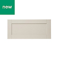 GoodHome Verbena Matt cashmere painted natural ash shaker Drawer front (W)800mm