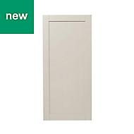 GoodHome Verbena Matt cashmere painted natural ash shaker Larder Cabinet door (W)600mm