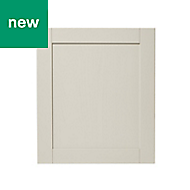 GoodHome Verbena Matt cashmere painted natural ash shaker Appliance Cabinet door (W)600mm