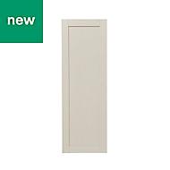 GoodHome Verbena Matt cashmere painted natural ash shaker Tall Larder Cabinet door (W)500mm