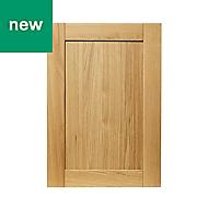 GoodHome Verbena Natural oak shaker Highline Cabinet door (W)500mm