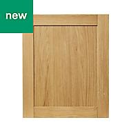 GoodHome Verbena Natural oak shaker Highline Cabinet door (W)600mm