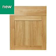 GoodHome Verbena Oak shaker Drawerline door & drawer front, (W)600mm
