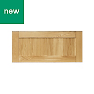 GoodHome Verbena Natural oak shaker Drawer front (W)800mm