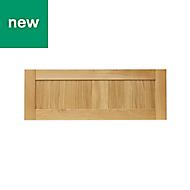 GoodHome Verbena Natural oak shaker Drawer front (W)1000mm