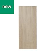 GoodHome Chia Light oak effect slab Highline Cabinet door (W)300mm