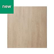 GoodHome Chia Light oak effect slab Appliance Cabinet door (W)600mm