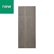 GoodHome Chia Grey oak effect slab Drawerline door & drawer front, (W)300mm