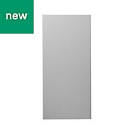GoodHome Balsamita Matt grey slab 70:30 Larder Cabinet door (W)600mm