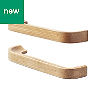 GoodHome Oak effect Cabinet handle (L)178mm, Pack of 2