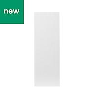 GoodHome Balsamita Matt white slab Highline Cabinet door (W)250mm