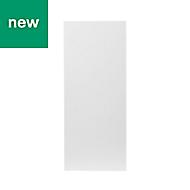 GoodHome Balsamita Matt white slab Cabinet door (W)300mm