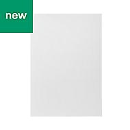 GoodHome Balsamita Matt white slab Highline Cabinet door (W)500mm