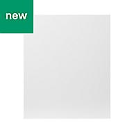 GoodHome Balsamita Matt white slab Highline Cabinet door (W)600mm