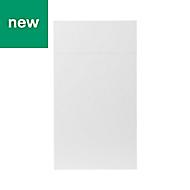 GoodHome Balsamita Matt white slab Drawerline door & drawer front, (W)400mm