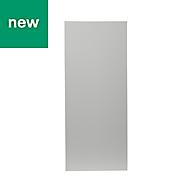GoodHome Balsamita Matt grey slab Highline Cabinet door (W)300mm