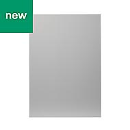 GoodHome Balsamita Matt grey slab Highline Cabinet door (W)500mm