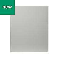GoodHome Balsamita Matt grey slab Highline Cabinet door (W)600mm