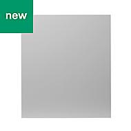 GoodHome Balsamita Matt grey slab Appliance Cabinet door (W)600mm