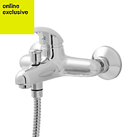 GoodHome Blyth Chrome plated Monobloc bath/shower mixer tap