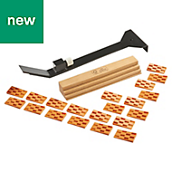 Magnusson Laminate & solid wood fitting kit, Pack of 20