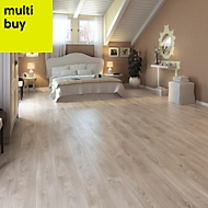 Yasur Grey Laminate flooring, 1.98m² Pack