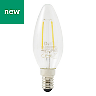Diall E14 250lm LED Candle Light bulb