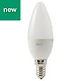 Diall E14 470lm LED Candle Light bulb