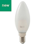 Diall E14 470lm LED Candle Light bulb