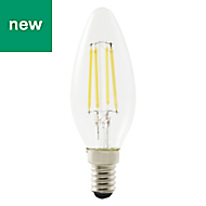 Diall E14 650lm LED Dimmable Candle Light bulb