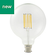 Diall B22 13W 1521lm Globe Warm white LED Dimmable Filament Light bulb