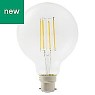 Diall B22 8W 1055lm Globe Warm white LED Filament Light bulb