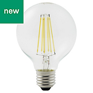 Diall E27 12W 1521lm Globe LED Dimmable Filament Light bulb