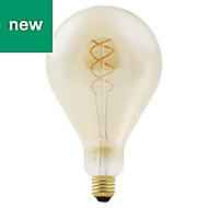 Diall E27 5W 300lm Balloon Warm white LED Filament Light bulb