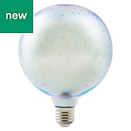 Diall E27 4W Globe Warm white LED Filament Light bulb