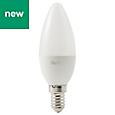 Diall E14 250lm LED Candle Light bulb