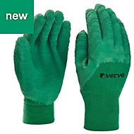 Verve Polyester (PES) Green Gardening gloves, Medium
