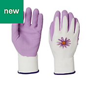 Verve Polyester (PES) Pink Gardening gloves, Small