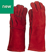 Site Cotton & leather Specialist handling gloves, Large