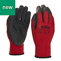 Site Latex & polyester Gripper Gloves, Large