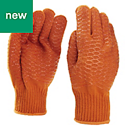Site Polyester Gripper Gloves, Large
